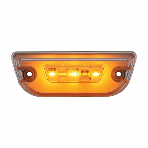 "11 LED ""GLO"" Cab Light  For Peterbilt 579 & Kenworth T680 - Amber LED/Clear Lens"