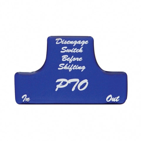 """PTO"" Switch Guard Sticker Only - Blue"
