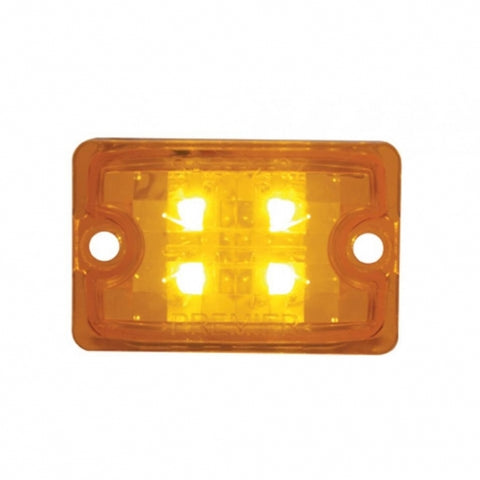 4 LED Rod Light Only - Small w/ Amber LED/Amber Lens