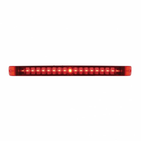 "19 LED 17"" Stop, Turn & Tail Light Bar - Red LED/Red Lens"