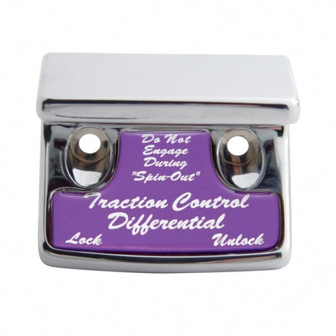 """Traction Control Differential"" Switch Guard - Purple Sticker"