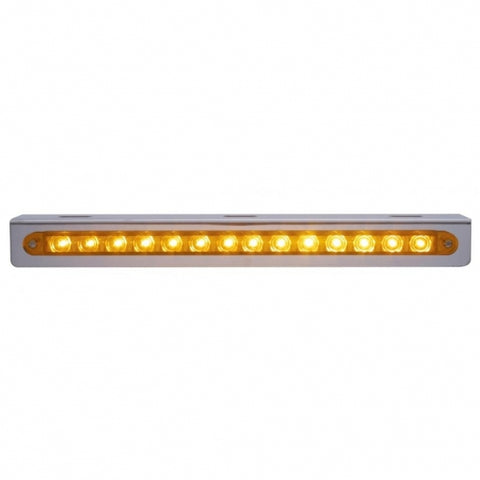 "12"" 14 LED Light Bracket - Amber LED/Amber Lens"