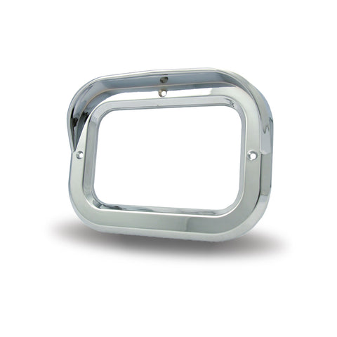 Square Chrome Plastic Bezel with Visor
