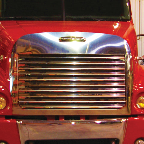 Freightliner Century Class Hoodshield Bug Deflector Louvered Grill & Surround Kit-10 Bars (2005+)