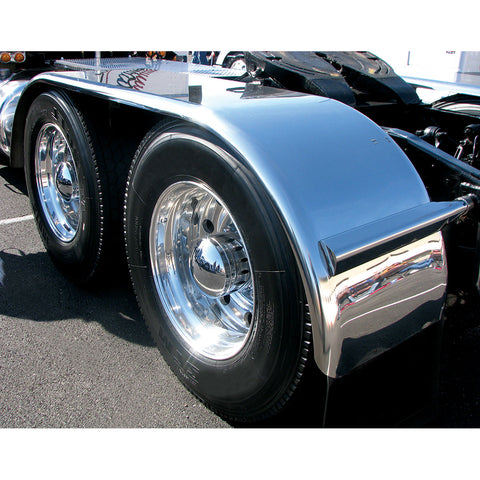 "132"" Smooth Full Fender w/ Rolled Edge (39""-54""-39"") - 14 Ga. (Fits tires with an outer diameter of 41 3/4"")"