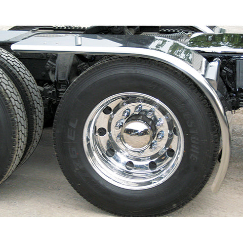 "80"" Fully Smooth CSM Rollin' Lo Half Fender (31"" - 49"") - 16 Ga. (Fits tires with an outer diameter of 46 1/2"" or 43 1/2"")"