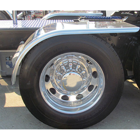 "60"" Smooth Half Fender w/ Rolled Edge & Flange (25""-35"") - 16 Ga."