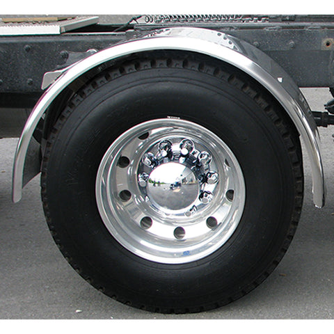 "80"" Smooth Single Axle Fender w/ Rolled Edge - 14 Ga."