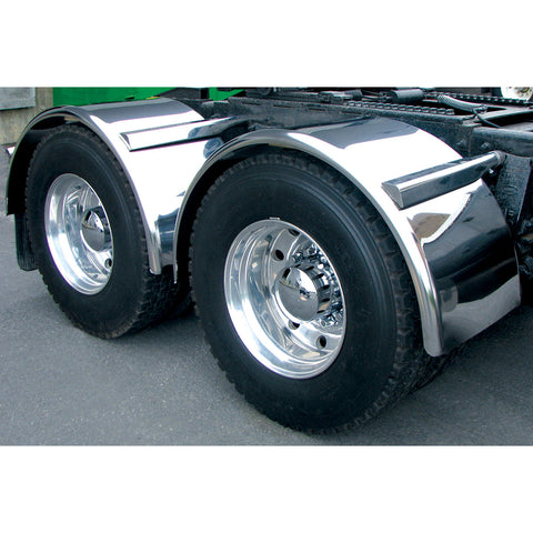"80"" Fully Smooth Single Axle Fender with Rolled Edge - 16 Ga."