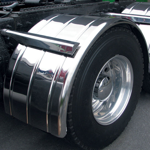 "80"" Ribbed Single Axle Fender w/ Rolled Edge - 16 Ga."