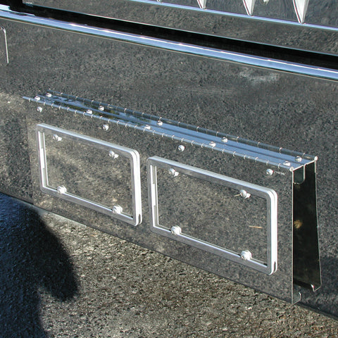 Kenworth W900 Texas Style Bumper Swing Plate - 2 License Plates