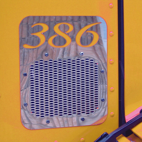 Peterbilt 386 Fresh Air Intake Cover - With Logo