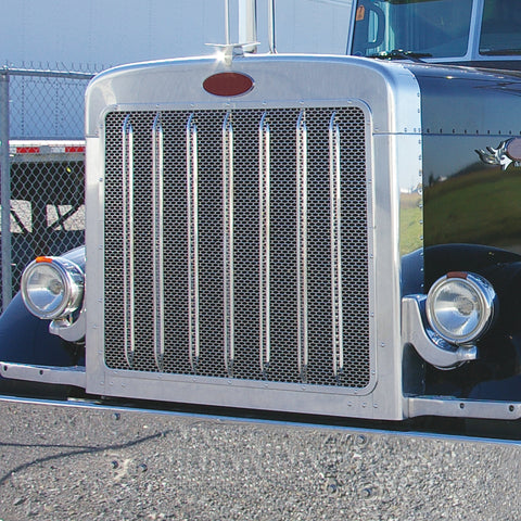 Peterbilt 379 Extended Hood Front Grill with Oval Punchouts (18 Ga.)