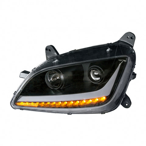 """Blackout"" Projection Headlight With LED Position Light & LED Turn Signal For 2011+ Peterbilt 579/587"