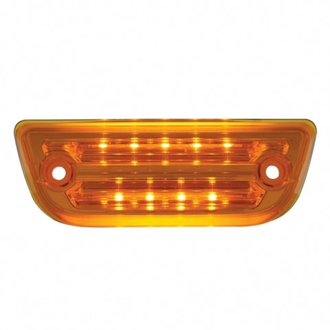 9 LED Rectangular Cab Light for Peterbilt 579 & Kenworth T680, T770, T880 - Amber LED / Amber Lens