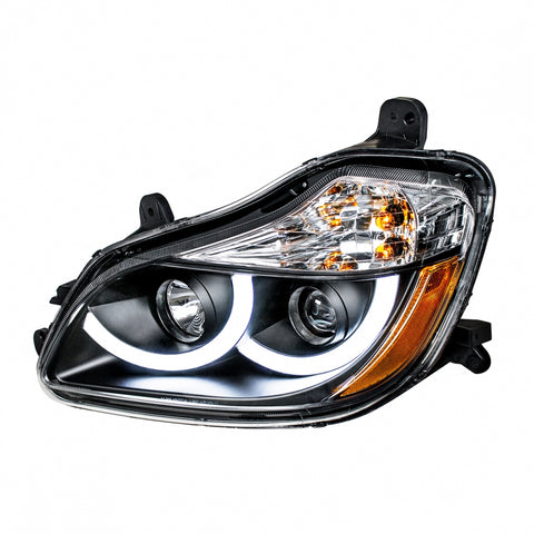 """Blackout"" Projection Headlight With LED Position Light For 2013+ Kenworth T680"