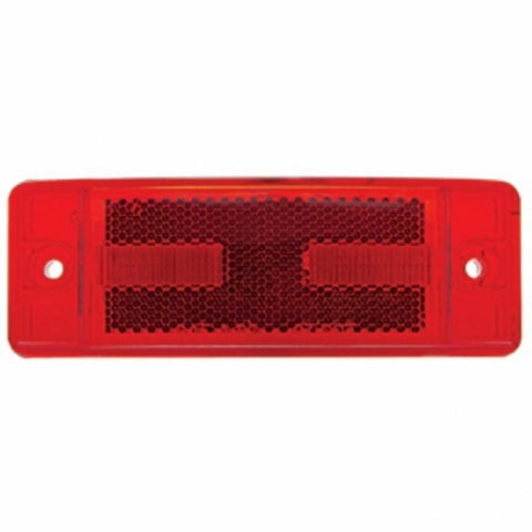 16 LED Rectangular Clearance/Marker Light - Red LED/Red Lens