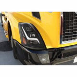 Blackout 2004+ Volvo VN/VNL Projection Headlight with LED Position Light Bar - Passenger