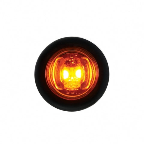 2 LED Mini Clearance/Marker Light - Amber LED/Amber Lens