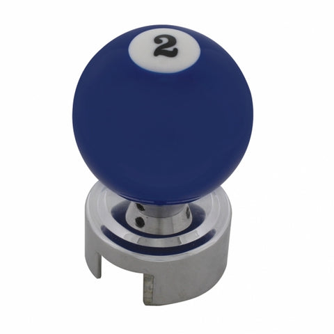 Pool Ball 13/18 Speed Shift Knob - Number 2 Ball