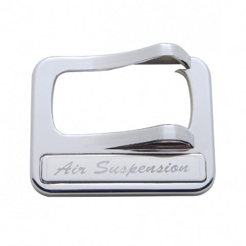 Peterbilt Rocker Switch Cover w/ Stainless Plaque - Air Suspension