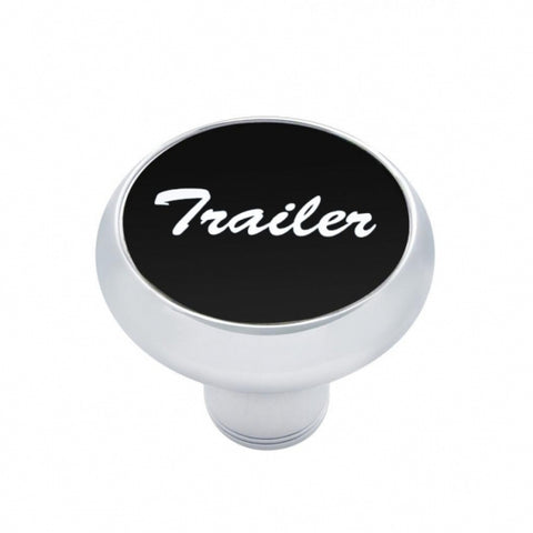 """Trailer"" Deluxe  Air Valve Knob - Black Aluminum Sticker"
