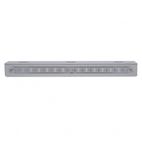 "12"" 14 LED Light Bracket - Amber LED/Clear Lens"