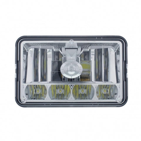 "5 LED 4"" x 6"" Crystal Headlight - High and Low Beam"