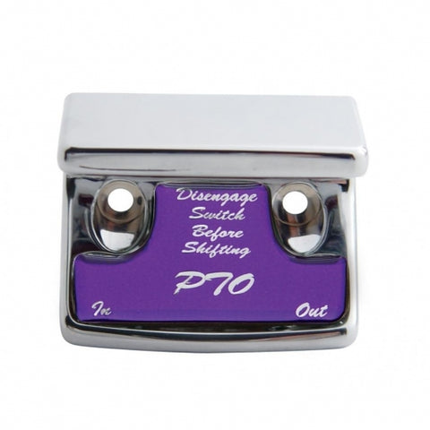 """PTO"" Switch Guard - Purple Sticker"