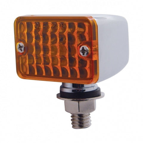 Small Rectangular Auxiliary Light - Amber
