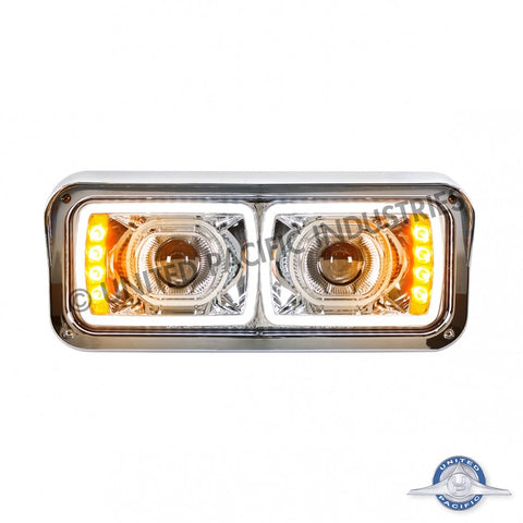 High Power LED Projection Headlight with LED Turn Signal & 100% LED Position Light Bar