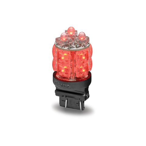 Red Square Stop, Tail Function LED Light - Push In (13 Diodes)