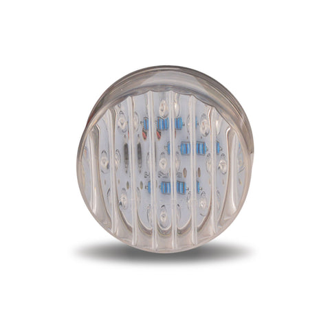 CLEAR RIBBED AMBER LED LIGHT