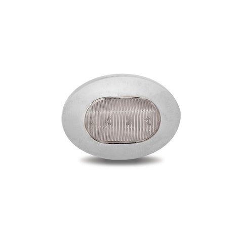 Mini Oval Button Dual Revolution Red/White LED