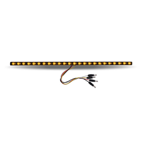 "17"" Dual Revolution Amber/Purple LED Strip - Attaches with 3M Tape"