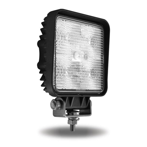 Universal White Square Work Light - Clear Lens - Black Housing (5 Diodes)