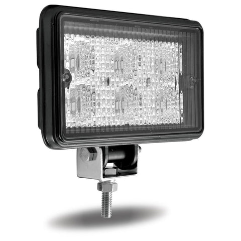 "4"" x 6"" Rectangular Heavy Duty LED Work Light - Flood Beam - 600 Lumens (6 Diodes)"