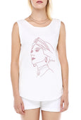 Courageous Voices, Fairuz - White Sleeveless Tee