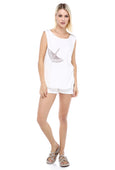 Fly Away Home - White Sleeveless Tee