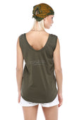 Courageous Voices, Fairuz - Olive Green Sleeveless Tee
