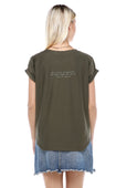 Courageous Voices Tee, Fairuz - Olive Green