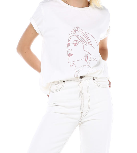 Courageous Voices Tee, Fairuz - White