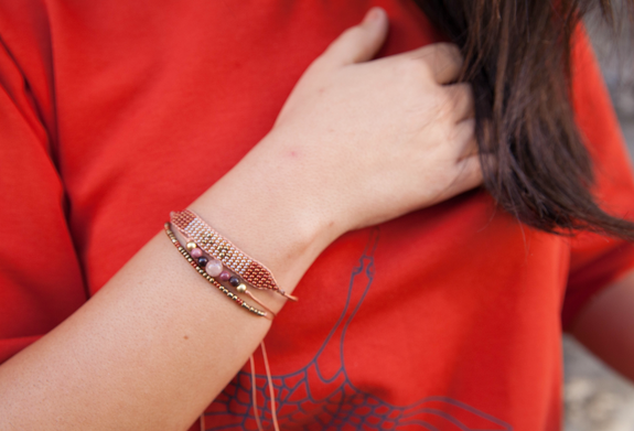 Ada Stacked Bracelet Set - Brick