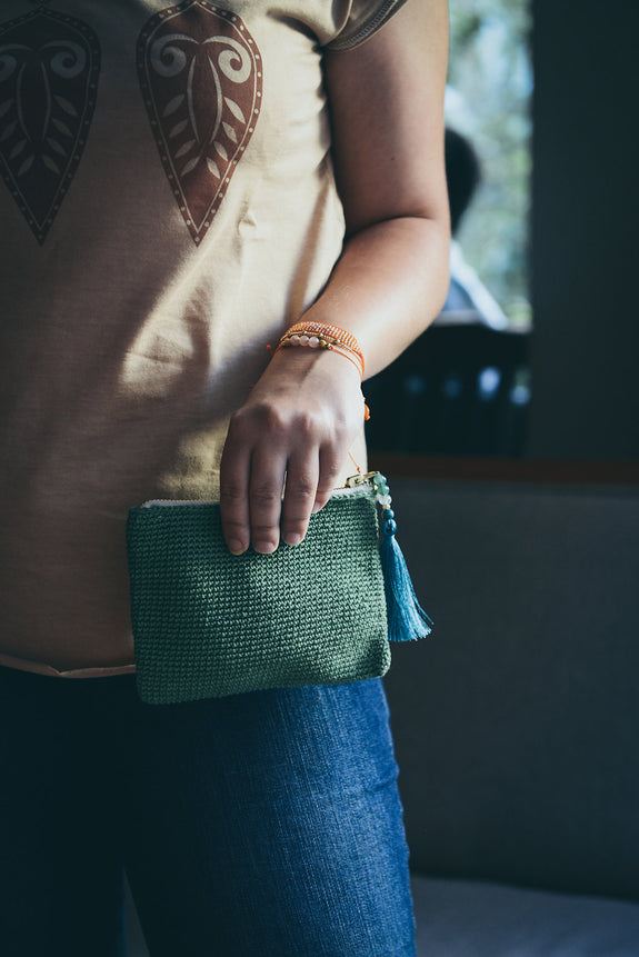 Hawaa Woven Purse - Apple