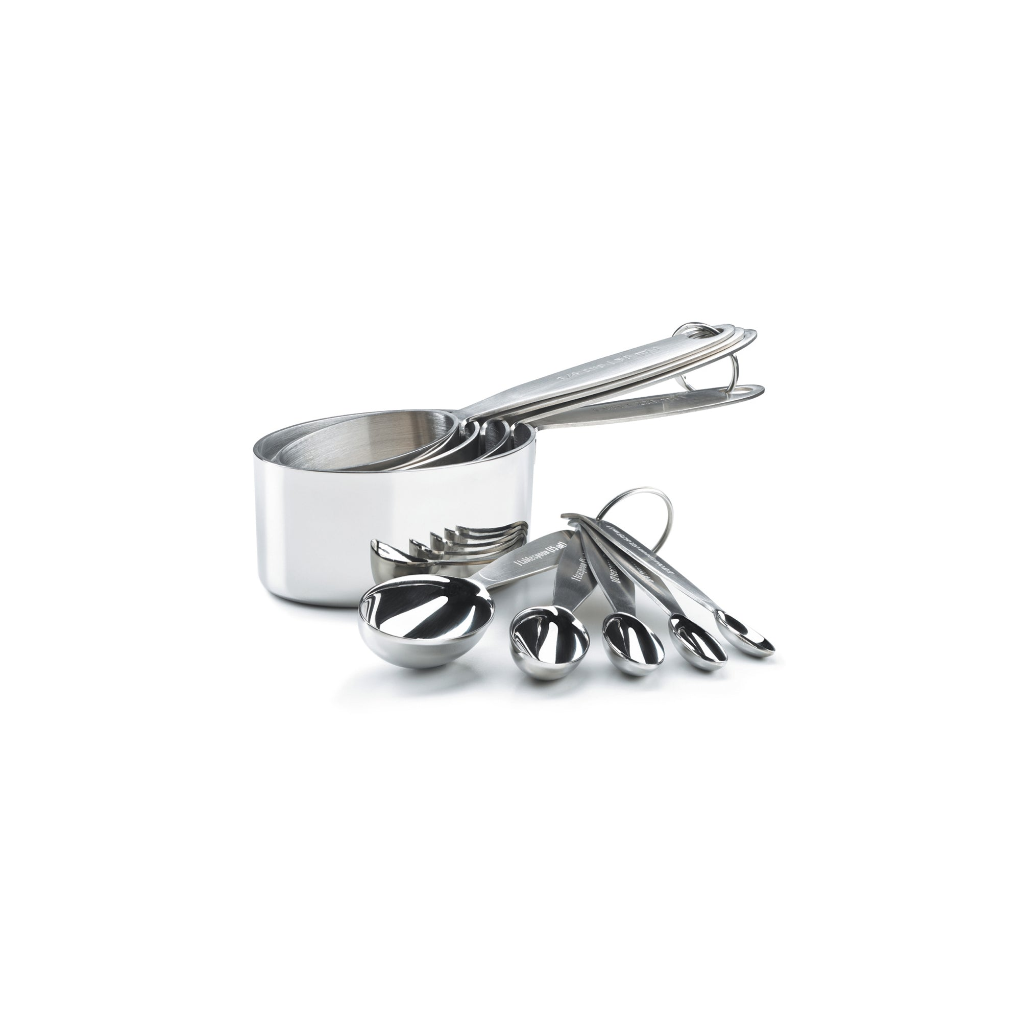 Stainless Steel Measuring Cups and Spoon Set