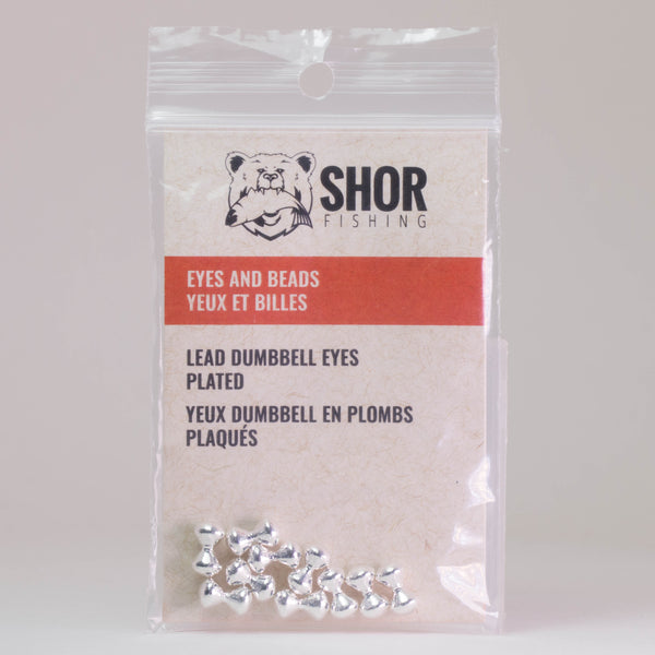 SHOR Fishing Lead Plated Dumbbell Eyes