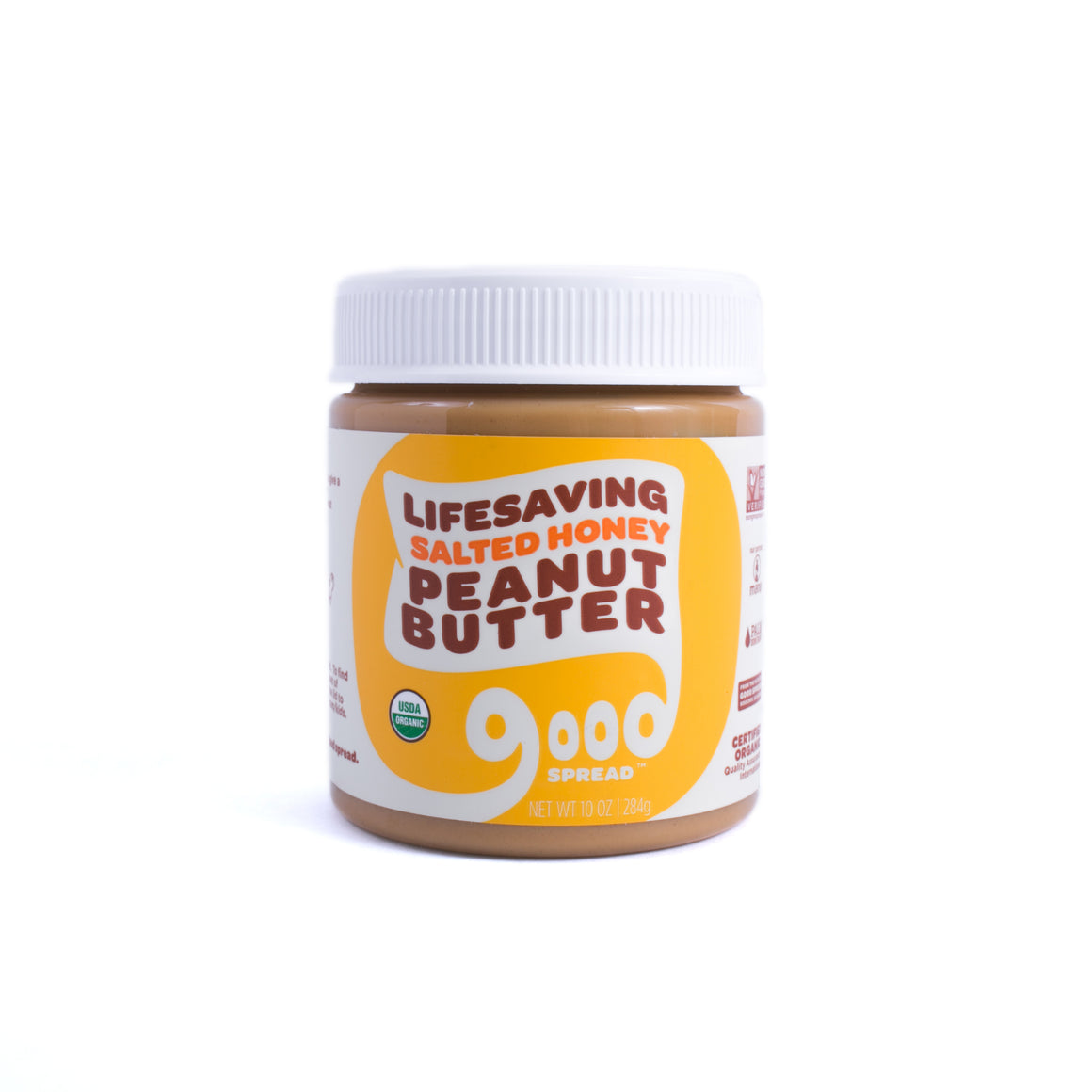 Organic Salted Honey Peanut Butter, 10oz. Jar (6 Count)