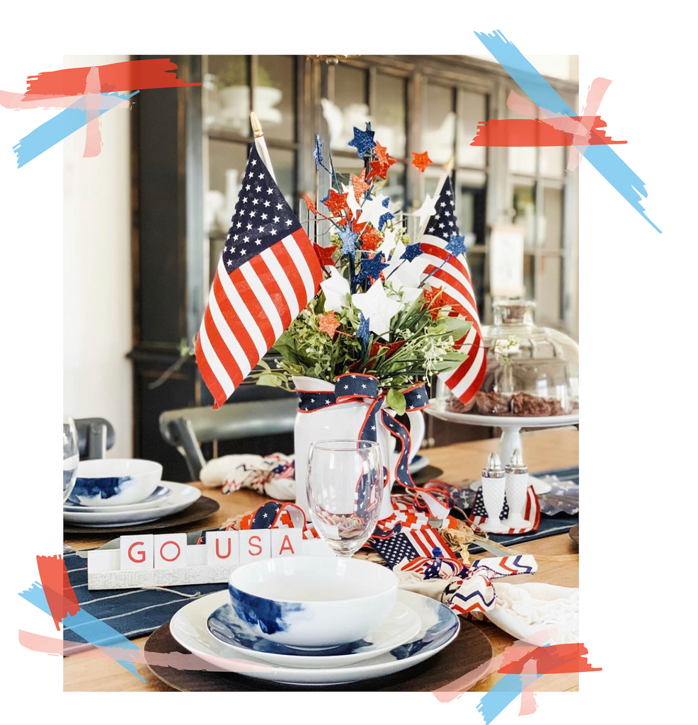 Fourth of July Tablescapes