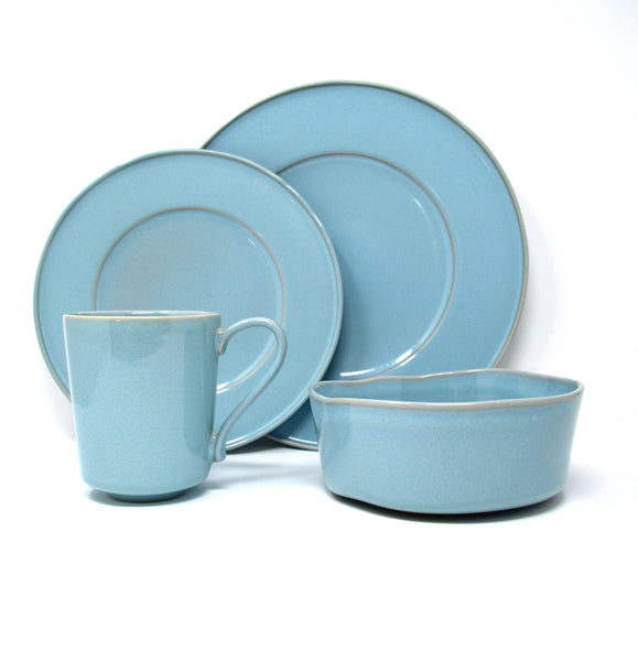 Oak Hall Robin's Egg Blue 4 Piece Set