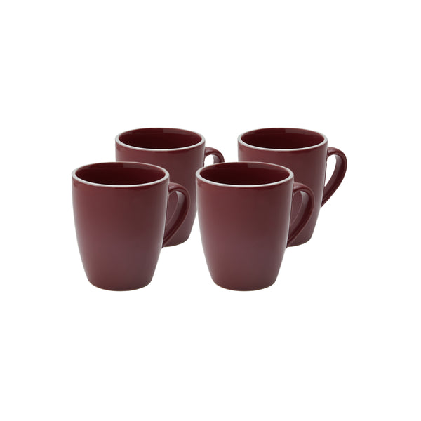 Potter's Wheel Berry Mug Set of 4
